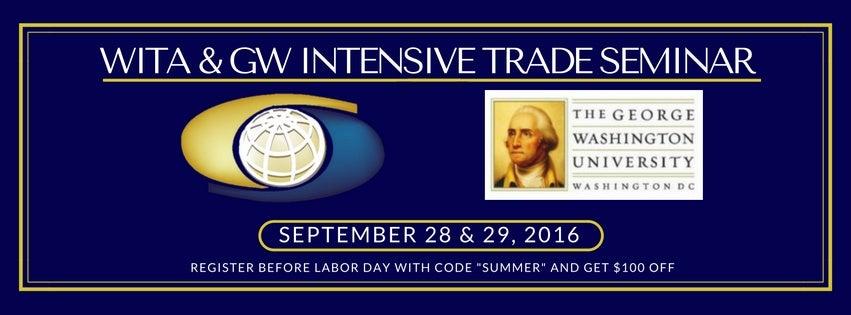 2016 WITA-GW Intensive Trade Seminar (1)